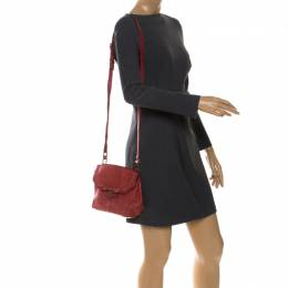 Alexander Wang Red Leather Small Marion Shoulder Bag 254381