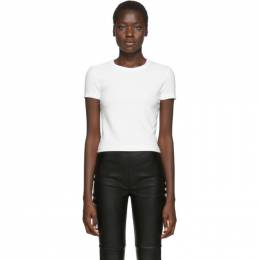 T by Alexander Wang Off-White Rib Bias Shrunkens T-Shirt 4CC1201002