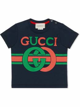 Gucci Kids футболка с принтом GG 548034XJBCG