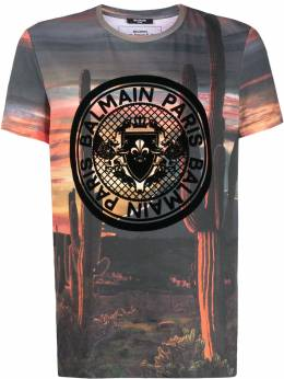 Balmain футболка с принтом Grand Canyon TH11601I257