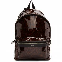 Saint Laurent Tortoiseshell Patent City Backpack 5349671PR2F