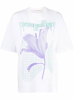Christopher Kane футболка с принтом Anthomania RE20TS435MEDIUMWEIGHTJERSEYWHITE