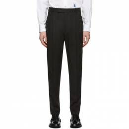 Paul Smith Black Wool Triple Pleat Trousers M1R-909T-A00987