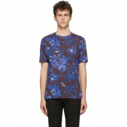 Paul Smith SSENSE Exclusive Blue and Purple Goliath Floral T-Shirt M1R-697P-AP1628