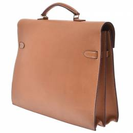 Hermes Gold Leather Gold Hardware Kelly Depeche 37 Briefcase