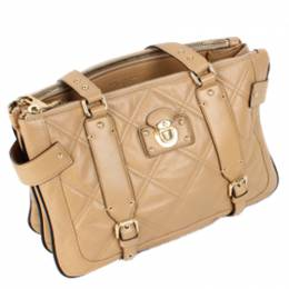 Marc Jacobs Beige Matelasse Leather Bag 189402