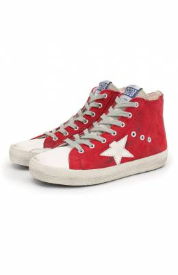 Высокие кеды из замши Superstar Golden Goose Deluxe Brand G34KS302.Z9