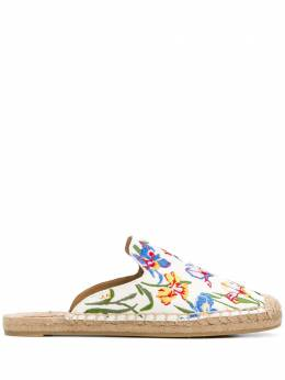 Tory Burch embroidered espadrille slippers 46913