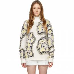 3.1 Phillip Lim Multicolor Wool Abstract Daisy Sweater E201-7327FCF