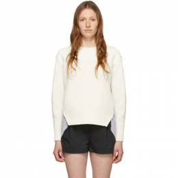 3.1 Phillip Lim White Patchwork Woven Combo Sweater E202-7510VCK