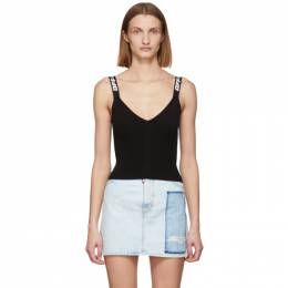 Off-White Black Industrial Knit Tank Top OWHD011R20H330681000