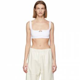 Off-White White Rib Tank Top OWAE004R201430950110