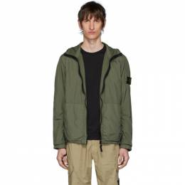 Stone Island Khaki Nylon Rep Hooded Coat 721543330
