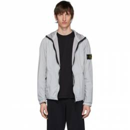 Stone Island Grey Nylon Rep Hooded Coat 721543330