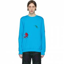 Paul Smith SSENSE Exclusive Blue Embroidered Charm Sweatshirt M1R-302S-AP1629