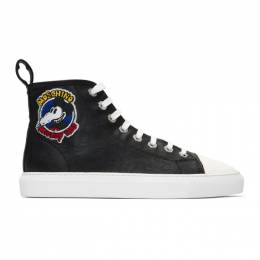 Moschino Black Mickey Rat High-Top Sneakers 6078 8258