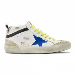 Golden Goose Deluxe Brand White Wingtip Mid Star Sneakers G36MS634.A13