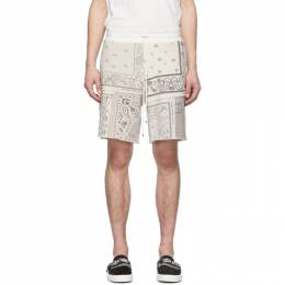 Amiri Off-White Bandana Reconstructed Shorts Y0M11480TE