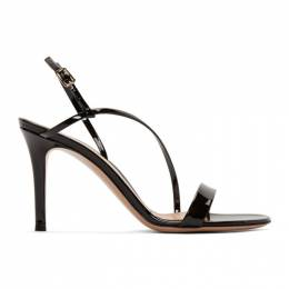 Gianvito Rossi Black Patent Manhattan Strappy 85 Sandals G30192.85RIC.VER