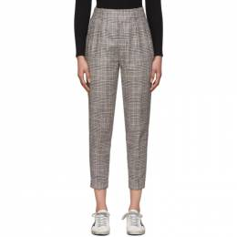 Isabel Marant Yellow and Grey Check Cayo Trousers PA1524-20P012I