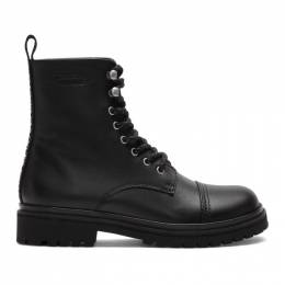 Versace Jeans Couture Black Combat Boots EE0YVBS04 E71387