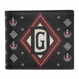 Dolce and Gabbana Black Bandana 6 Bifold Wallet BP1321 AK443