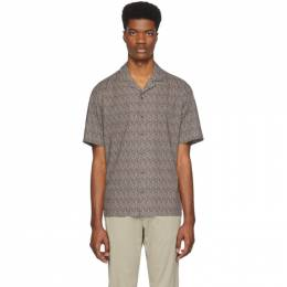 Z Zegna Brown and Navy Pattern Short Sleeve T-Shirt 705091 ZCOB2