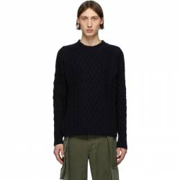 Loewe Navy Cable Knit Sweater H3109630VO