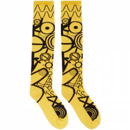 Yellow and Black Gender Identity Socks Charles Jeffrey Loverboy CJLSS20LS