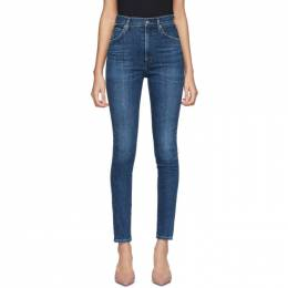 Citizens of Humanity Indigo Chrissy High-Rise Skinny Jeans 1611-694