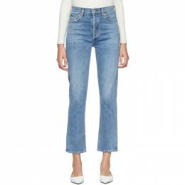 Citizens of Humanity Blue Charlotte High-Rise Straight Jeans 1731-1147