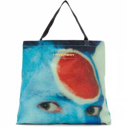 Blue and Red Charles Face Tote Charles Jeffrey Loverboy CJLSS20LTB