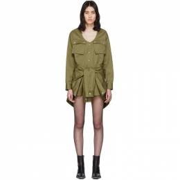 Alexander Wang Khaki Tied Waist Trench Jumpsuit 1WC1207063