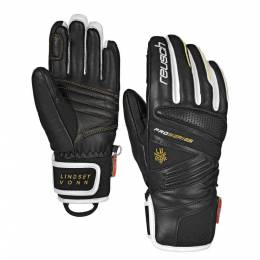 Перчатки Lindsey Black/White/Gold Reusch
