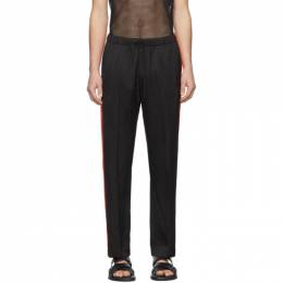 Dries Van Noten Black and Red Drawstring Trousers 20927-9158-900