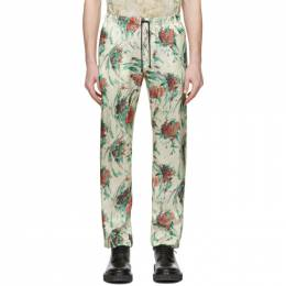 Dries Van Noten Off-White Floral Drawstring Trousers 20926-9079-006