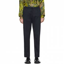 Dries Van Noten Navy Drawstring Trousers 20926-9172-509