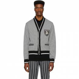 Dolce and Gabbana Black and White Houndstooth Cardigan G9QO3Z G7VNT