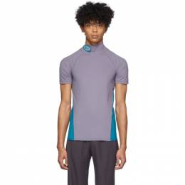 Purple and Blue Fitted Turtleneck T-Shirt Keenkee SS20JT03-RSS-1