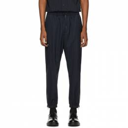 3.1 Phillip Lim Navy and White Wool Pinstripe Cargo Pants S201-5161PWSM