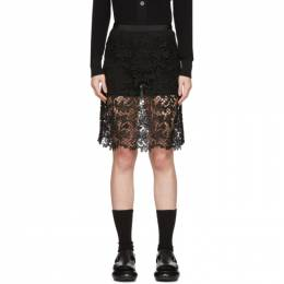 Sacai Black Embroidered Miniskirt 20-04941