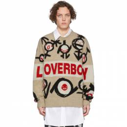Tan Gender Symbols Logo Sweater Charles Jeffrey Loverboy CJLSS20LLGSJ