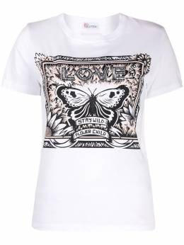Red Valentino butterfly detail T-shirt TR3MG05K4Y2