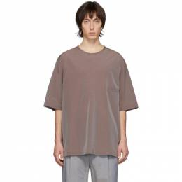 Lemaire Burgundy Half-Sleeve T-Shirt M 201 TO123 LF427