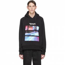 Neil Barrett Black City Lights Hoodie PBJS 591S N513S