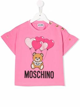 Moschino Kids TEEN Teddy Bear balloon T-shirt HDM03BLBA00