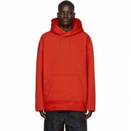 Y-3 Red Classic Chest Logo Hoodie FN3381