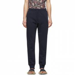 Dries Van Noten Navy French Terry Lounge Pants 21168-9611-509