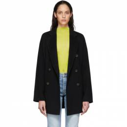 Acne Studios Black Wool Double-Breasted Coat A90187