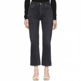 Agolde Black Ripley Straight Jeans A141-1157